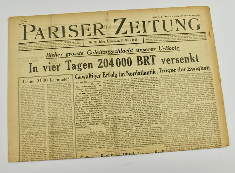 Pariser Zeitung Wehrmacht Newspaper in France