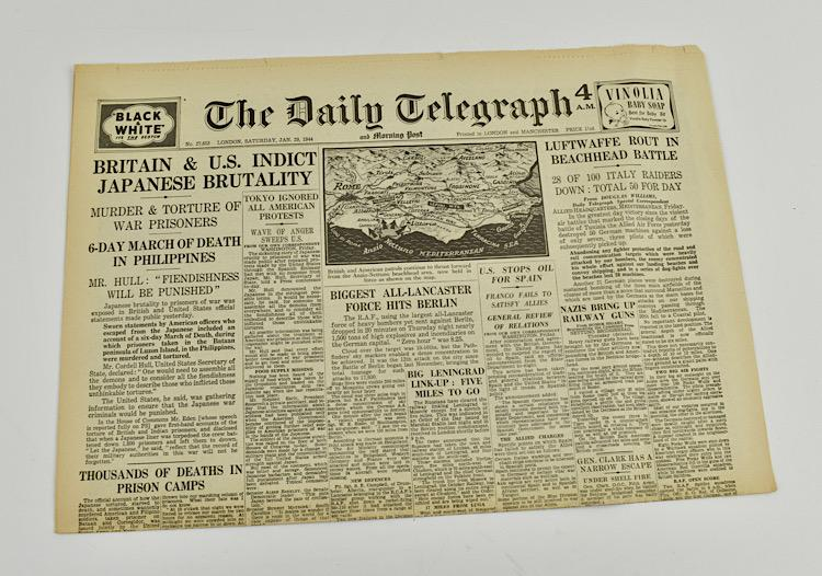 British WW2 Daily Telegraph Newspaper